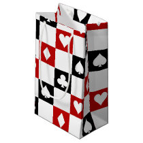 Tiled poker suit pattern party bag