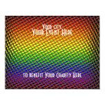 Tiled Rainbow 4.25x5.5 Paper Invitation Card