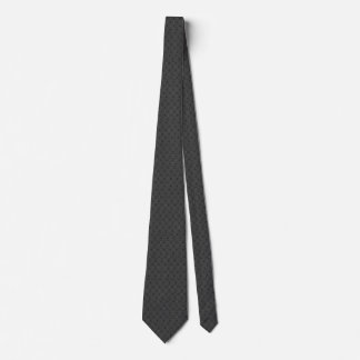 Tiled Retro Flowers Charcoal Gray Tie