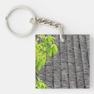 Tiled Roof Double-Sided Square Acrylic Keychain