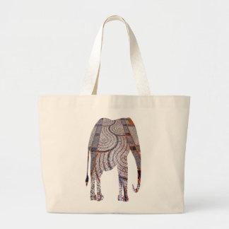 Tiled Street Elephant Tote Bag