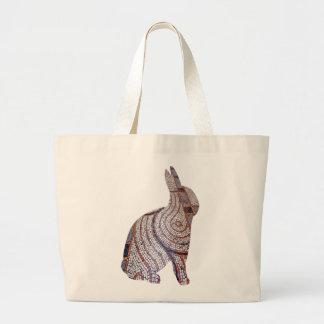 Tiled Street Rabbit Tote Bag