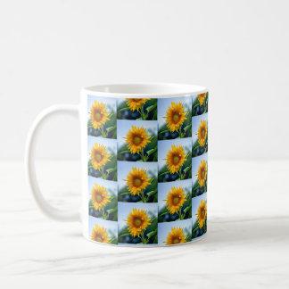 Tiled Sunflowers Coffee Mug