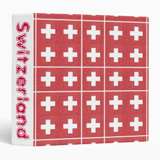 Tiled Swiss flag binder