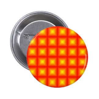 Tiled Tile Reflective Pattern Design Pinback Button