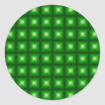 Tiled Tile Reflective Pattern Design Classic Round Sticker