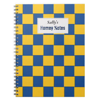 Tiled Woven Blue and Yellow Notebook