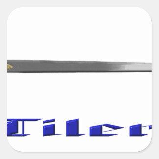tiler square sticker