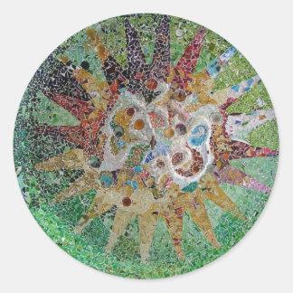 Tiles Classic Round Sticker
