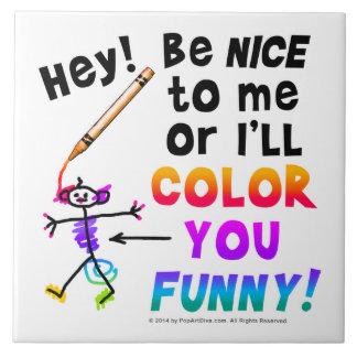 Tiles,Coasters, Trivets - Color You Funny Tile