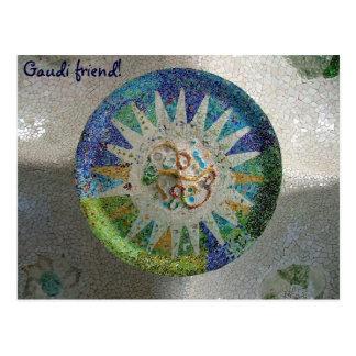 Tiles - Gaudi, friend! - Customized Post Cards