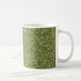tiles green coffee mug