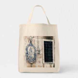 TILES IN LISBON GARDEN - SHABBY CHIC Tote Bag