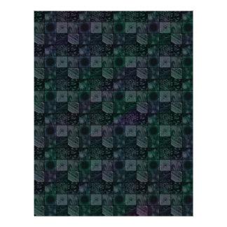 Tiles in Mottled Blue Letterhead