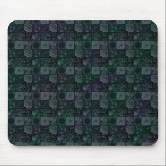 Tiles in Mottled Blue Mouse Pads