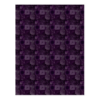 Tiles in Purple Postcard