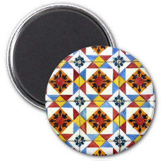 Tiles 2 Inch Round Magnet