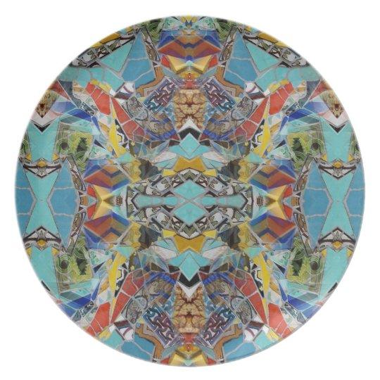 Tiles of Angles melamine plate