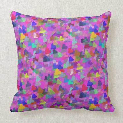 Tiles of Falling Heart American Mojo Throw Pillow