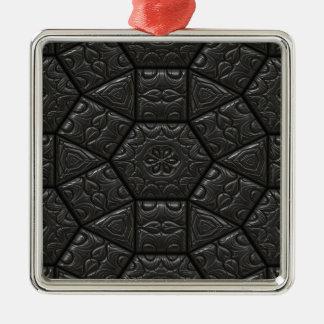 Tiles Pattern Image Metal Ornament