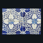 """Tiles, Portuguese Tiles Kitchen Towel<br><div class=""""desc"""">Towel of kitchen</div>"""