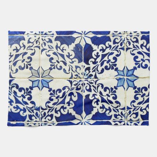 Tiles Portuguese Tiles Kitchen Towel Zazzle Com
