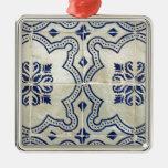 Tiles, Portuguese Tiles Metal Ornament