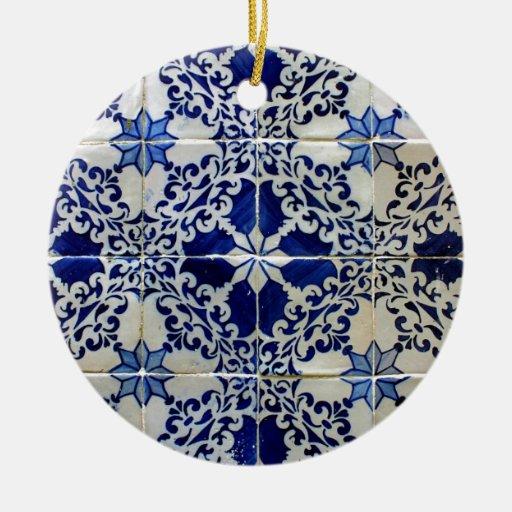 Tiles, Portuguese Tiles Ornamento De Cermica Redondo