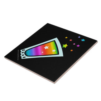 TILES, TRIVETS or COASTERS - RAINBOW SHOT GLASS