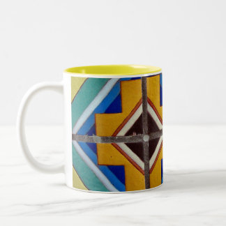tiles Two-Tone coffee mug