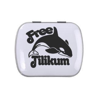 Tilikum libre latas de dulces