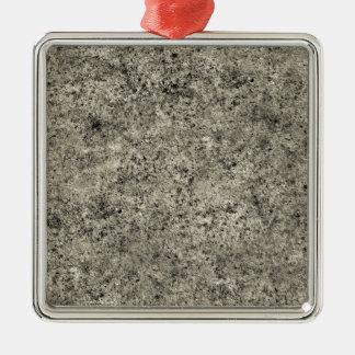 Tiling Sand Texture Square Metal Christmas Ornament