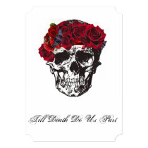 Till Death Do Us Part Red Rose Invitation