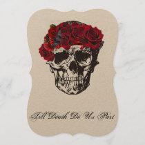 Till Death Do Us Part Red Rose Invitation