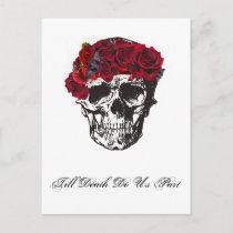 Till Death Do Us Part Red Rose Postcard