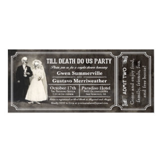 Till Death Do Us Party Couples Shower Tickets Card