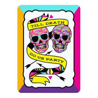 "Till Death Do Us Party - Neon Wedding Invitation 5"" X 7"" Invitation Card"
