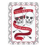 Till Death Do Us Party - Red Wedding Invitation