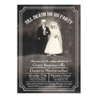 Till Death Do Us Party Vintage Wedding Invitations
