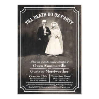 Till Death Do Us Party Vintage Wedding Invitations