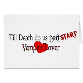 Till Death do us start Greeting Cards