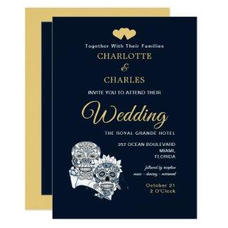 Till Death Us Do Part Sugar Skulls Wedding Invitation
