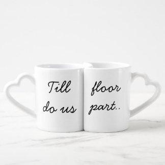 Till floor do us part couples coffee mug