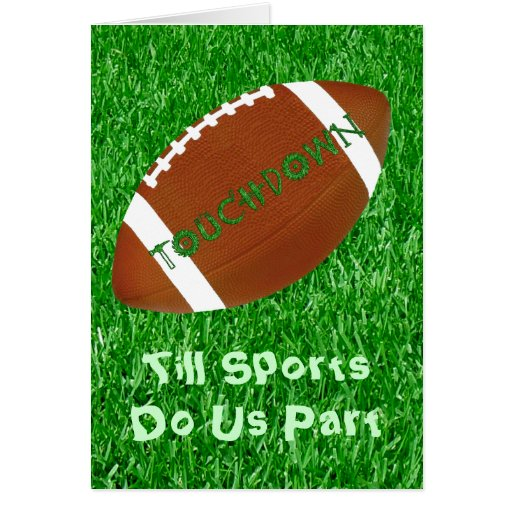 Till Sports Do Us Part Greeting Card