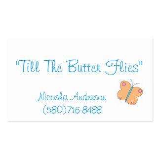 """""""till The ButterFlies"""" Business Card Template"""