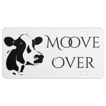Tillamook Cow Moove Over License Plate