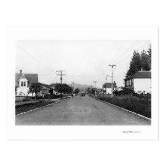Tillamook, escena residencial de la calle de tarjetas postales