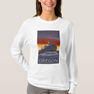Tillamook Lighthouse Vintage Travel Poster T-Shirt
