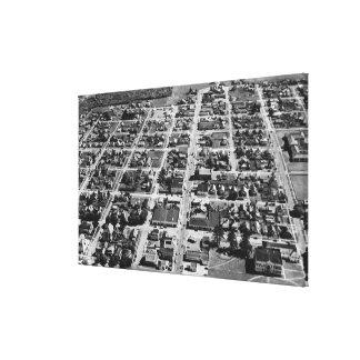 Tillamook, Oregon Aerial View Photograph Canvas Print