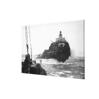 Tillamook, Oregon Lighthouse from Ship Photograp Canvas Print